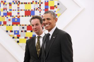 Obama en Mondriaan // cc Gemeentemuseum Den Haag (Astrid Hulsmann)