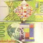 In '80 liet De Nederlandsche Bank een serie bankbiljetten ontwerpen. Rob Schröder ontwierp een serie waarin Mondriaans onafgemaakte 'Victory Boogie Woogie' op het biljet van 1000 gulden stond.