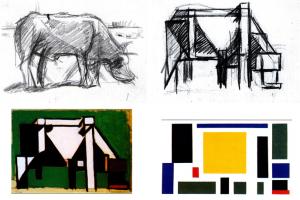 Doesburg: 4 stadia van de koe