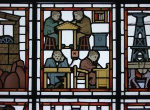 Glas in lood ontworpen door Bart van der Leck. // cc Ronald Rugenbrink