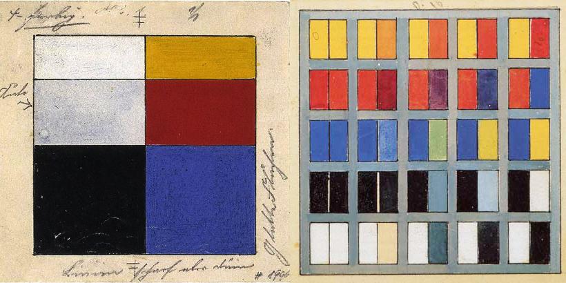De kleuren van de stijl 100 jaar de stijl rechthoekig - Stijl des maisons ...